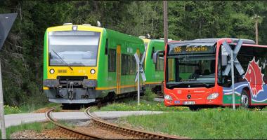 Schienenersatzverkehr zwischen Zwiesel und Grafenau