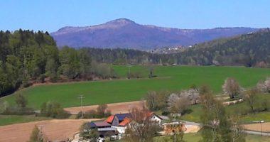 Rachelblick vom Hohen Sachsen bei Grafenau