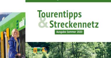 Sommerfahrplan und Tourentipps mit Streckennetz