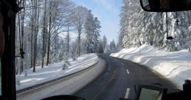Winter Aussicht Busfahrer©Christina Wibmer
