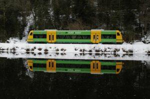 Waldbahn Gotteszell Regenfluss
